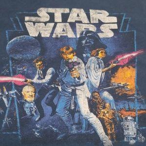 2t Classic Distressed Star Wars short sleeve tee